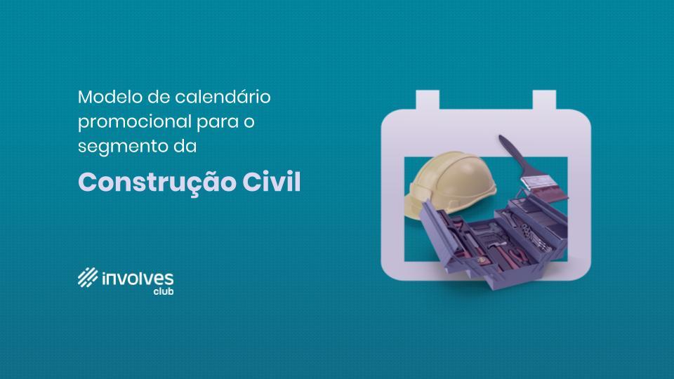 Calendário promocional 2020 - Construção Civil